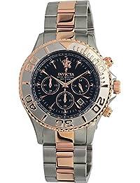 Invicta Men's Sea Base Rose Gold-Tone Steel Bracelet & Case Quartz Black Dial Analog Watch 23882
