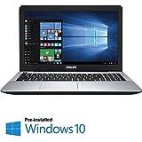 Asus 15.6-Inch Flagship Premium Laptop (Intel Core i3-5020U 2.2GHz Processor, 4GB DDR3, 1TB HDD, DVD, HDMI, Webcam, HD Display,Windows 10)