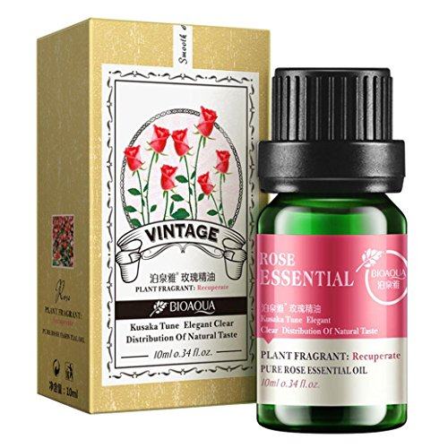 Essential Oil, Lotus.flower 10ML Pure & Natural Water Soluble Herb Oil Therapeutic Grade Aromatherapy Scent for Diffuser Humidifier / Body Massage (Rose)