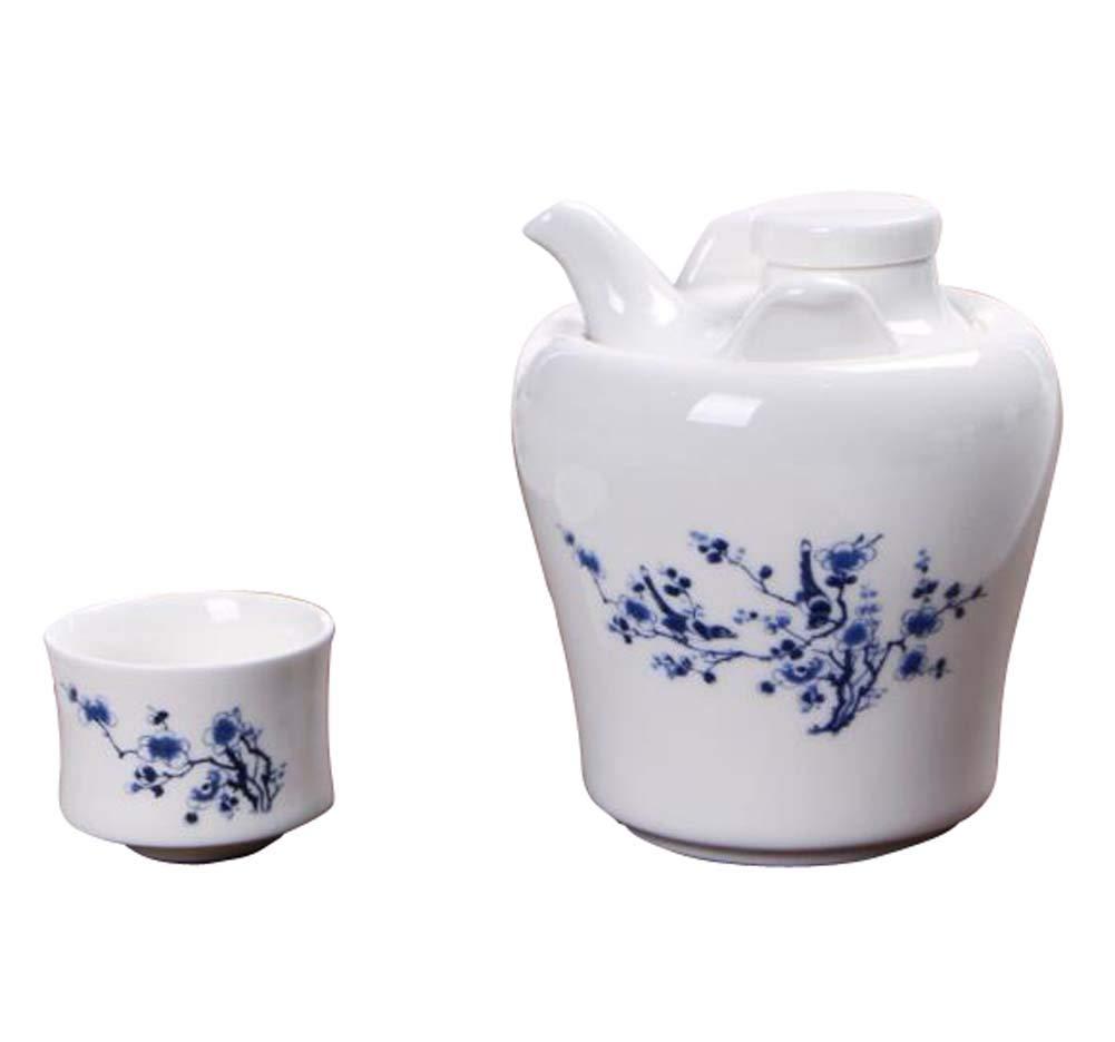 DRAGON SONIC Warm Wine Pot Set, Ceramic Sake Set, Wine Separator, E08