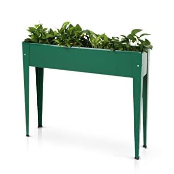 IKayaa Raised Elevated Garden Bed Kits Vegetable Herb Gardening Planter Box  39u0026quot;L