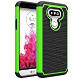 LG G5 Case, kaesar[Shock Absorption] [Impact Resistant] [Slim Protective Cover Series] Hybrid Dual Layer Armor Defender Protective Case Cover for LG G5 - Green