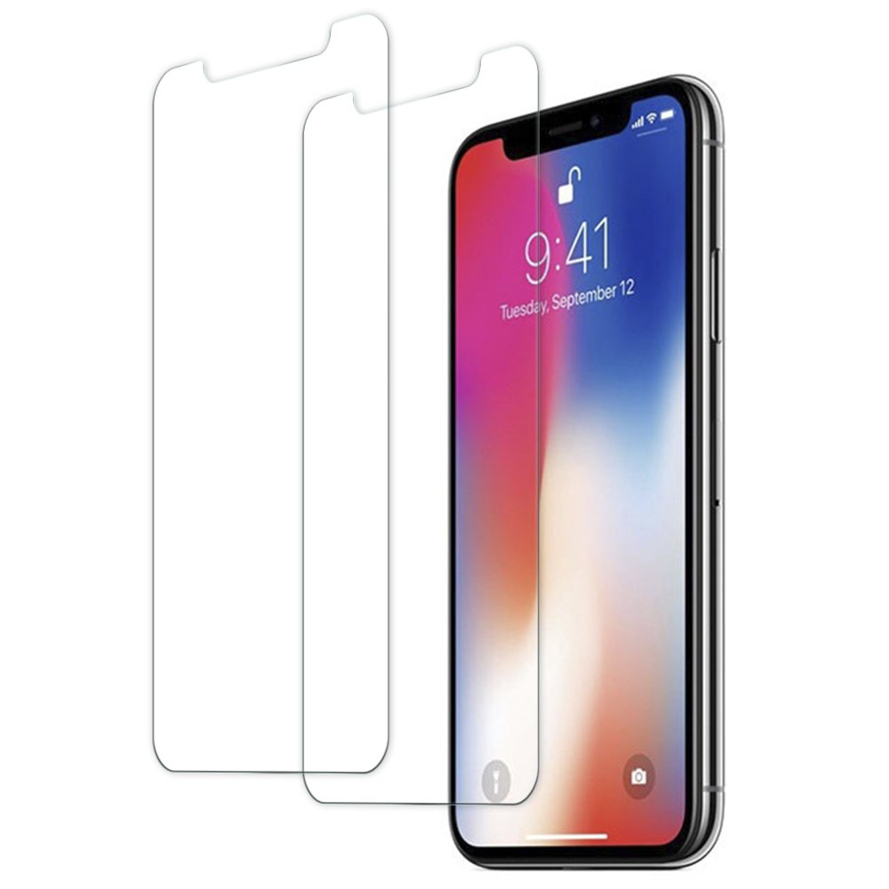 Panzerglas Schutzfolie für iPhone X, [2 Stück] TUCNIPUS Panzerglasfolie -3D Touch Kompatibel, 9H Härte, Anti-Öl, Kratzer,Blasen und Fingerabdruck Displayschutzfolie für iPhone X