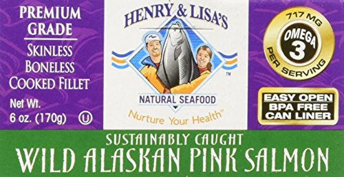 Henry & Lisa's Wilk Alaskan Pink Salmon, 6 oz (Pack of 12) by Henry and Lisas Natural Seafood