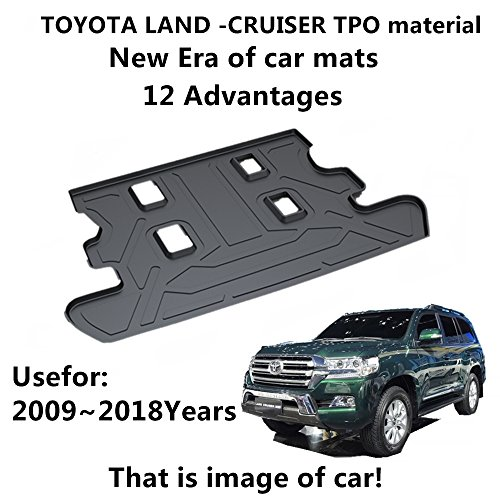 AUNAZZ/Trunk Mat Cover For TOYOTA Land-Cruiser 2009-2018Years Rubber Rear Trunk Cargo Liner Trunk Tray Floor Mat Cover 1 (Toyota Land Cruiser Custom Mats)