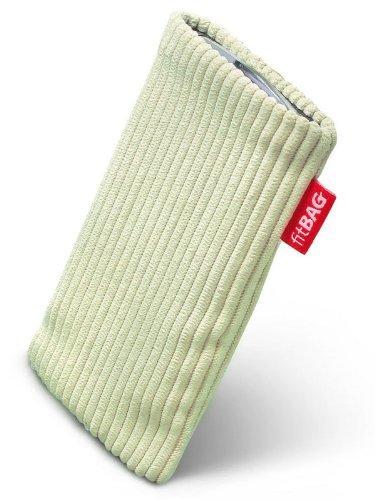 fitBAG Retro Pistazie Handytasche Tasche aus Cord-Stoff mit Microfaserinnenfutter für APPLE iPhone 3Gs 32GB 32 GB