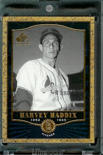(2001 SP Legendary Cuts #14 Harvey Haddix Baseball Card - Mint Condition - In Protective Display)