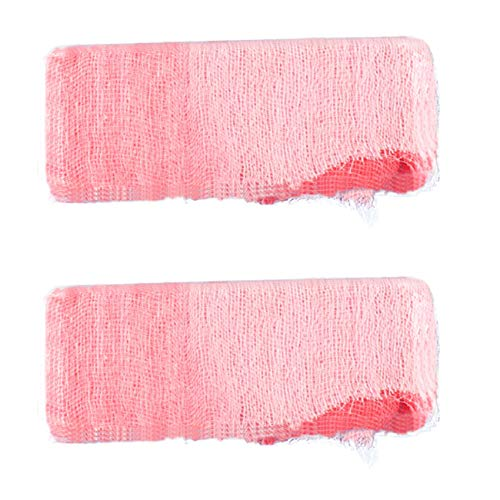 Bloody Bandages Halloween (Tinsow 2 Pack Bloody Wound Gauze Bandage Halloween Zombie Costume)