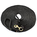 30' Check Cord Dog Training Leash; 30-Foot Dog Check Cord / Lead for Obedience, Hunting Dog & Field Training