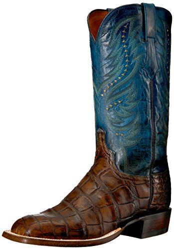 Lucchese Bootmaker Men's Troy Western Boot, Chocolate, 10.5 D US (Lucchese Alligator Boots)