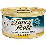 Fancy Feast Salmon & Shrimp Feast Cat Food, 3 oz