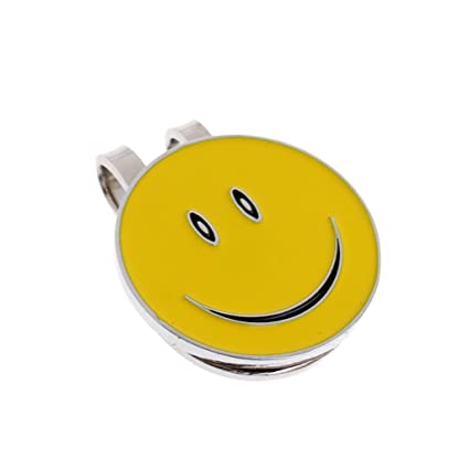 Image Unavailable. Image not available for. Color  Dovewill Sturdy Lovely  Smile Face Magnet Hat Clip Golf Ball Marker ... 49f5ec36b5eb