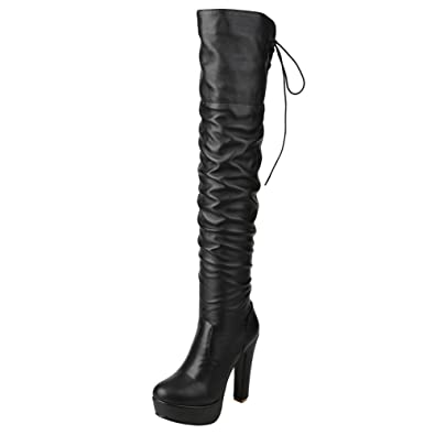8866574db7b Mee Shoes Damen high Heels Backstrap Overknee Stiefel  Amazon.de ...