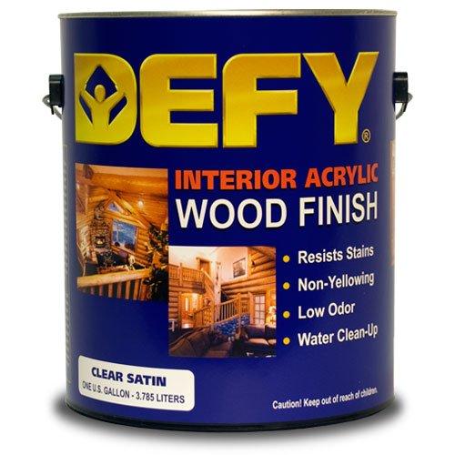 - DEFY Interior Clear Wood Finish Satin gal