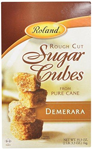 Roland Sugar Cubes, Rough Cut Demerara, 35.3 Ounce (Pack of 8)