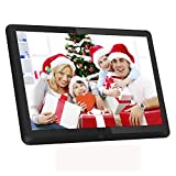 Atatat 10 Inch Digital Photo Frame with 1920x1080 IPS Screen, Digital Picture Frame with 1080P Video, Music, Slideshow, Adjustable Brightness, Auto Rotate, Photo Deletion, Remote, Support SD Card,USB