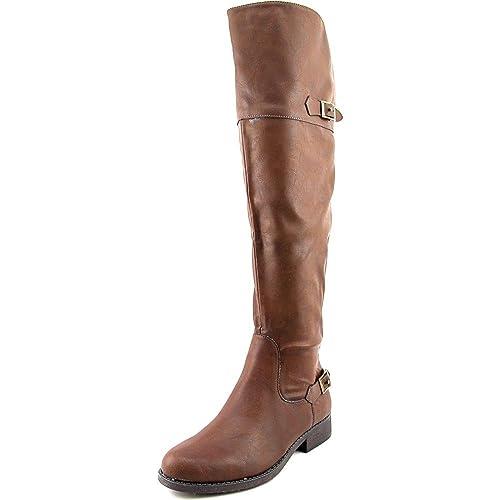 d18cf7d010c0 American Rag Womens Aada Round Toe Knee High Fashion Boots Brown 5 M US