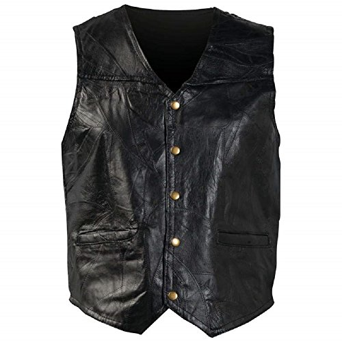 Giovanni Navarre Italian Stone Design Genuine Leather Vest (Leather Stone Coat Genuine Italian)