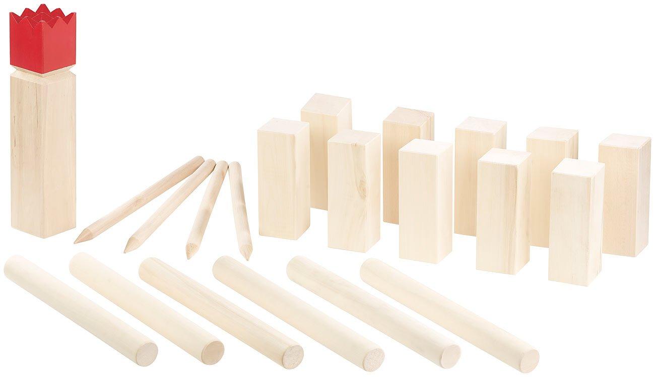 Playtastic Spielzeug Fuer draussen: Wikinger-Spiel aus Holz, ideal für Wiese, Strand & Co. (Outdoorspiele) ideal für Wiese