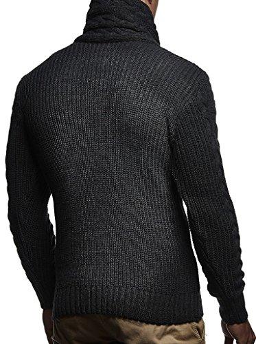 Cardigan Pour Hoodie Sweatshirt D'hiver Ln7075 Leif Pullover vous Arrêtez En Pull Nelson Anthrazit Hommes Tricot Longsleeve Des pwBXTPq5