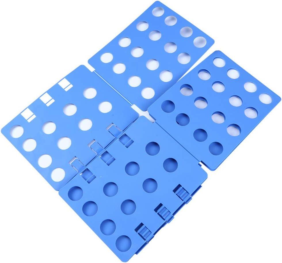 Easy Flip Kleidung Faltbrett T-Shirt Kleidung Ordner Organizer W/äscheordner Faltbar f/ür Organisation Regal Kinderzimmer Zuhause Schrank Schlafzimmer blau