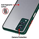 Hifad Case Hard Matte Finish Smoke Case with Soft Side Frame Fit Protective Back Case Cover for Vivo V21 [Translucent…