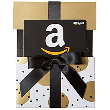 Amazon.com Gift Card in a Gold Reveal (Classic Black Card Design)