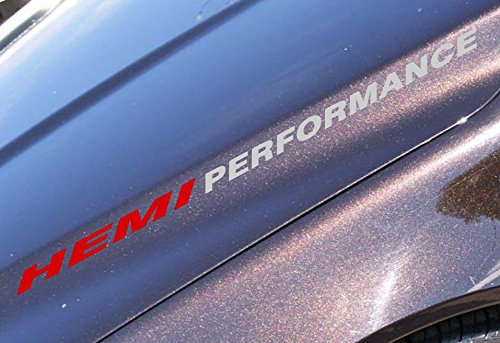 2x HEMI PERFORMANCE Decal sticker Compatible with Chevrolet, Jeep, ford, dodge,toyota or similar (Hemi Window Decals compare prices)