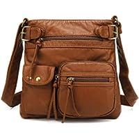 Scarleton Ultra Soft Multi Pockets Leather Crossbody Bag (H1833)