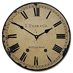 1910 English Longcase Wall Clock, Available in 8 sizes, Most Sizes Ship the Next Business Day, Whisper Quiet.