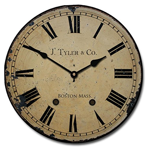 Case Clock (1910 English Longcase Wall Clock, Available in 8 sizes, Most Sizes Ship 2 - 3 days, Whisper Quiet.)