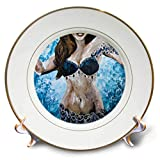 3dRose Art by Mandy Joy - Dancers - A Modern Impressionist Painting of a Belly Dancer. - 8 inch Porcelain Plate (cp_291493_1)