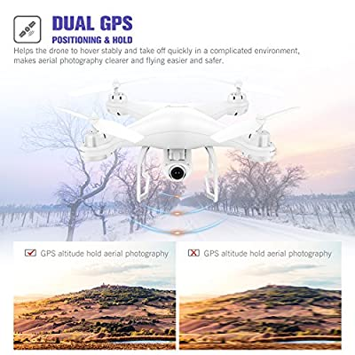 Potensic T25 Drone RC GPS FPV with Live Video and Return Home Wide-Angle 1080P HD WiFi Camera- Altitude Hold, Long Range