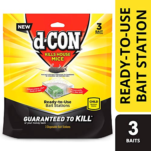 D-ConMouse Poison Bait Station, 3 Count (Best Poison To Kill Mice)