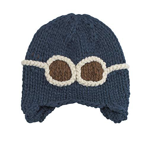 Topwon Baby Knitted Pilot Cap Beanie Aviator Crochet Earflap Hat (Blue)]()