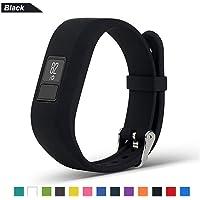 Bemodst Watchband for Garmin vivofit 3 Watch Wristbands, Garmin Replacement Pure Color Wrist Band Strap Soft Silicone Smartwatch Accessory Bracelet Band for Men Women