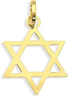 Davidstern Anhänger aus echt 14 Karat Gold 585 (Art.212067)