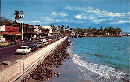 Front Street and Sea Wall Maui, Hawaii Original Vintage - Maui Street Front