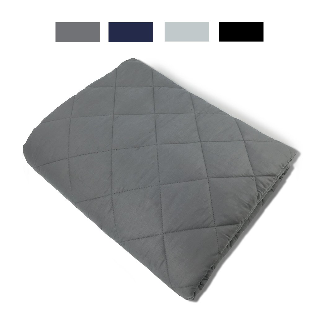 New Version Weighted Blanket by Hypnoser for Child and Adults,Dark Grey,41''x61''-15 lbs for 100-150 lbs Teen,Providing Calm and Comforting Sleep, Great for Anxiety,Insomnia, ADHD, Autism, OCD and SPD by Hypnoser (Image #1)