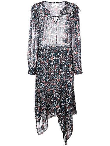 ISABEL MARANT ÉTOILE Women's Ro131619p033e02fk Black Silk Dress ()
