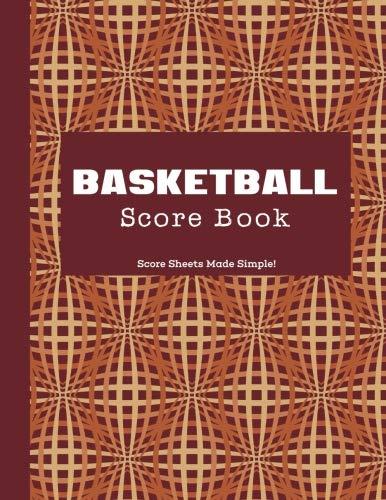Basketball Scorebook: Modern Pattern, Matte, 8.5