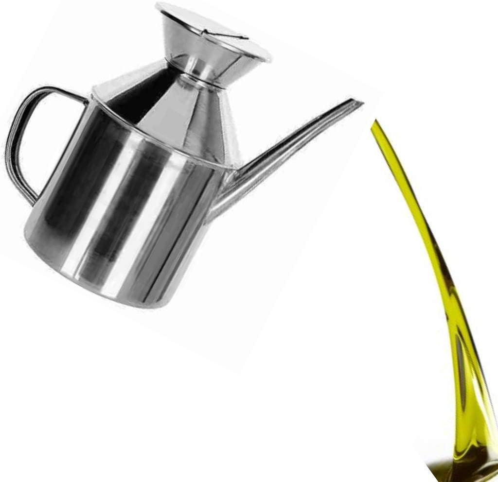 dispenser di olio di oliva e aceto per cucinare insalata cuoci pane barbecue Oliera antigoccia in acciaio inox N//A