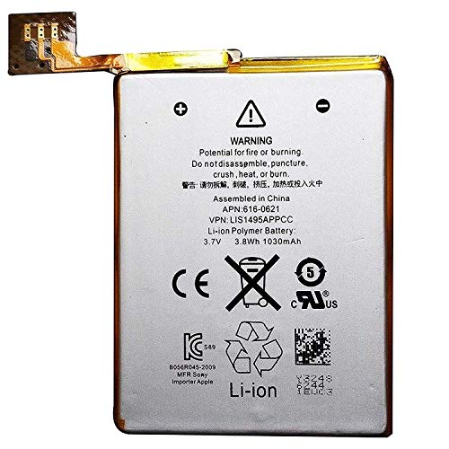 LONGLIFE New Internal Replacement Battery Compatible for iPod Touch 5th Generation Stalion Strength Li-Polymer Battery 1030mAh 3.7V for iPod Touch 5 ()