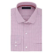 Tommy Hilfiger mens Non Iron Regular Fit Check Spread Collar Dress Shirt