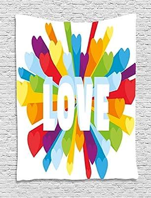 ABAKUHAUS Vistoso Tapiz de Pared, Amor Gay LGBT Burst, para el ...