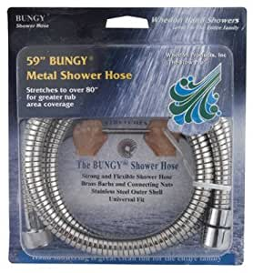 Whedon Products AF205C 59-Inch Metal Stretch Shower Hose - Quantity 10