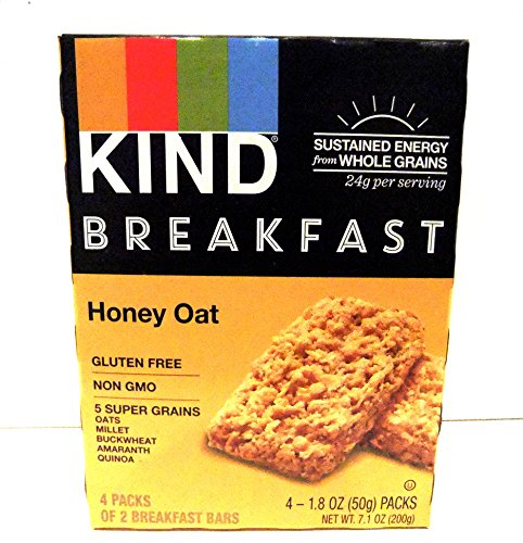 Kind, Breakfast Bars, Honey Oat, 2-4 Packs (2 Bars Per Pack)