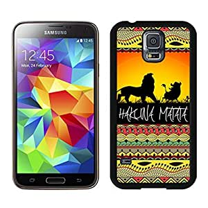 Hakuna Matata on Sunset Lion King Black Samsung Galaxy S5 Screen Cover Case Newest and Fashion Design