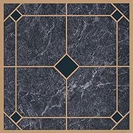 45 Self Adhesive Blue Gold 12 X 12 Vinyl Flooring Tiles
