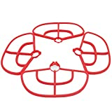 Teeggi 4pcs/set Propeller Guard Bumper Protector for MJX B2C B2W Bugs 2 RC Quadcopter Accessories, Red